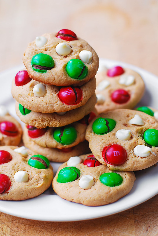 cookies with peanut butter m&ms