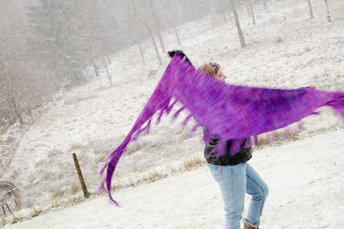 Garter shawl