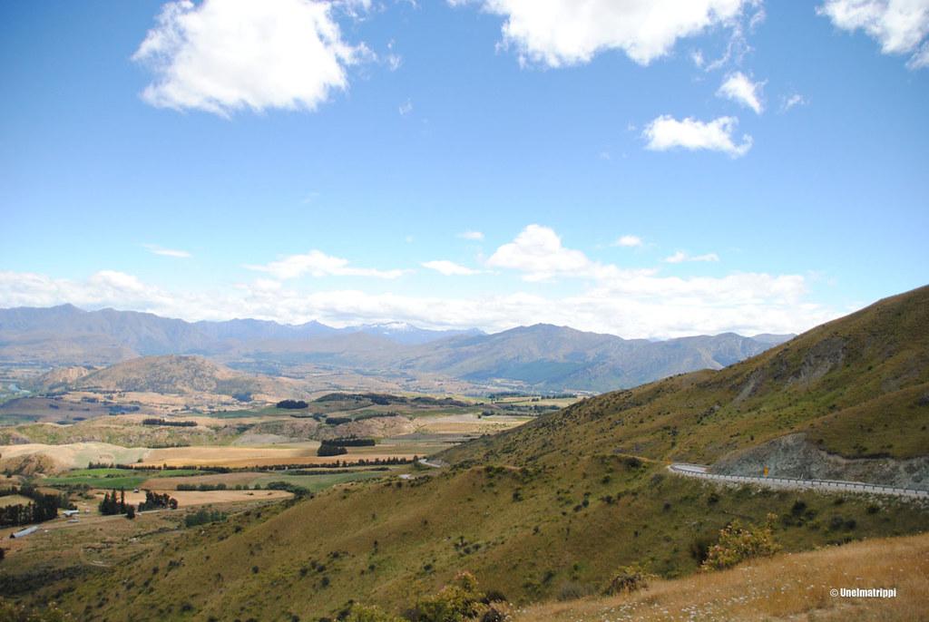 Maisema Alpine Scenic Routen varrella, Uusi-Seelanti
