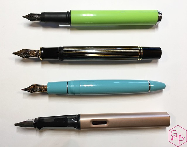 Review Sheaffer Pop Glossy Lime Fountain Pen @GoldspotPens 5