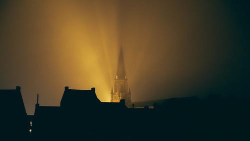 Morlanwelz by night
