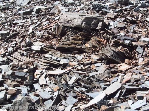 Interesting rocks on the slopes of Bennett Peak, Death Valley National Park, California