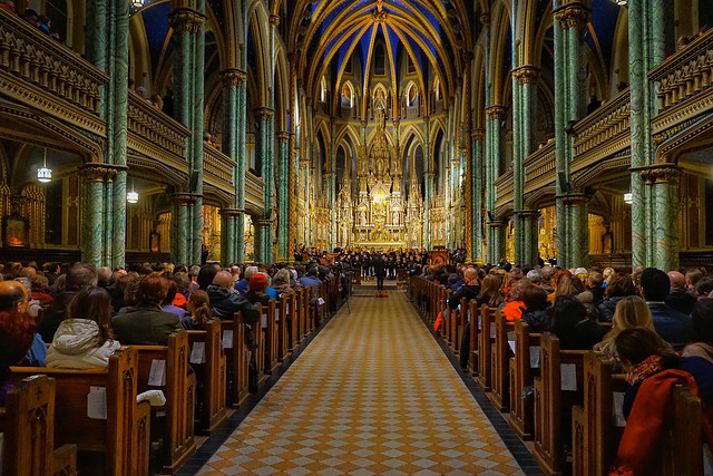 Christmas concert at Notre Dame Basilica in Ottawa