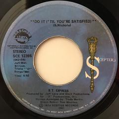 B.T. EXPRESS:DO IT('TIL YOU'RE SATISFIED)(LABEL SIDE-B)
