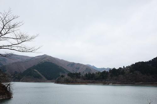 Lake Okutama Ogouchi dam reservoir 10