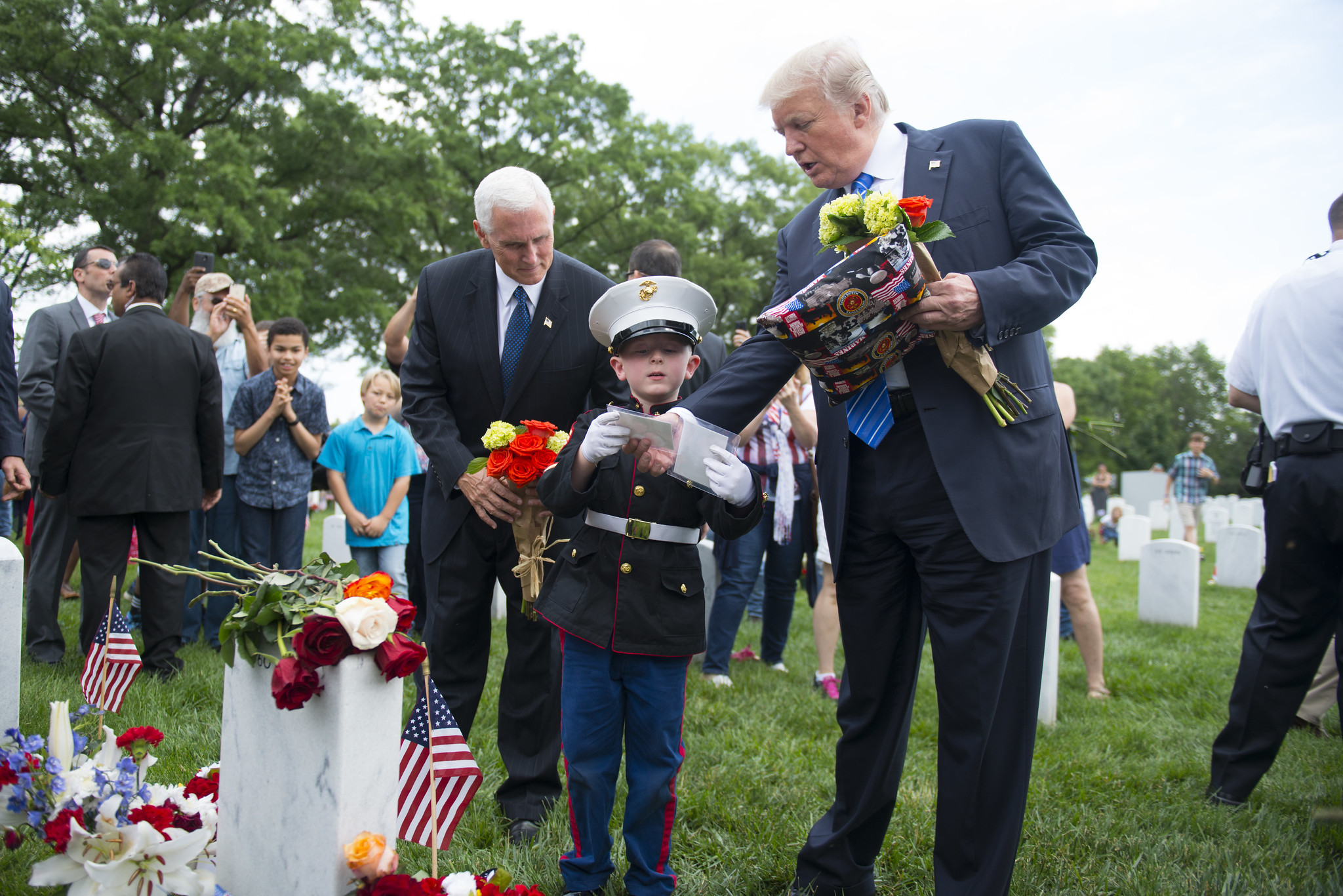 President Donald J. Trump and Vice President Mike Pence Visit Section 60 of Arlington National Cemetery
