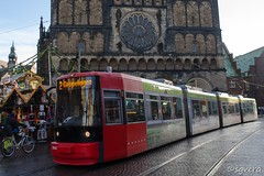 Tranvía Bremen. Diciembre 2017