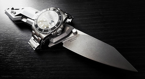 Rolex Submariner Watch and Raidops Centauro Knife ///