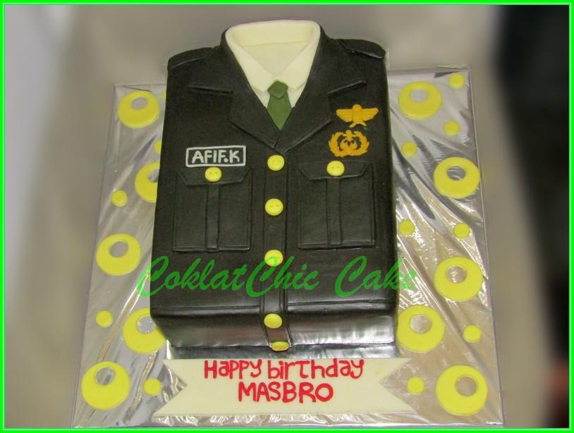 Cake Baju Tentara AFIF 18cm