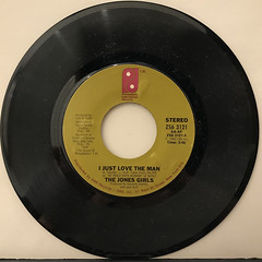 THE JONES GIRLS:I JUST LOVE THE MAN(RECORD SIDE-A)