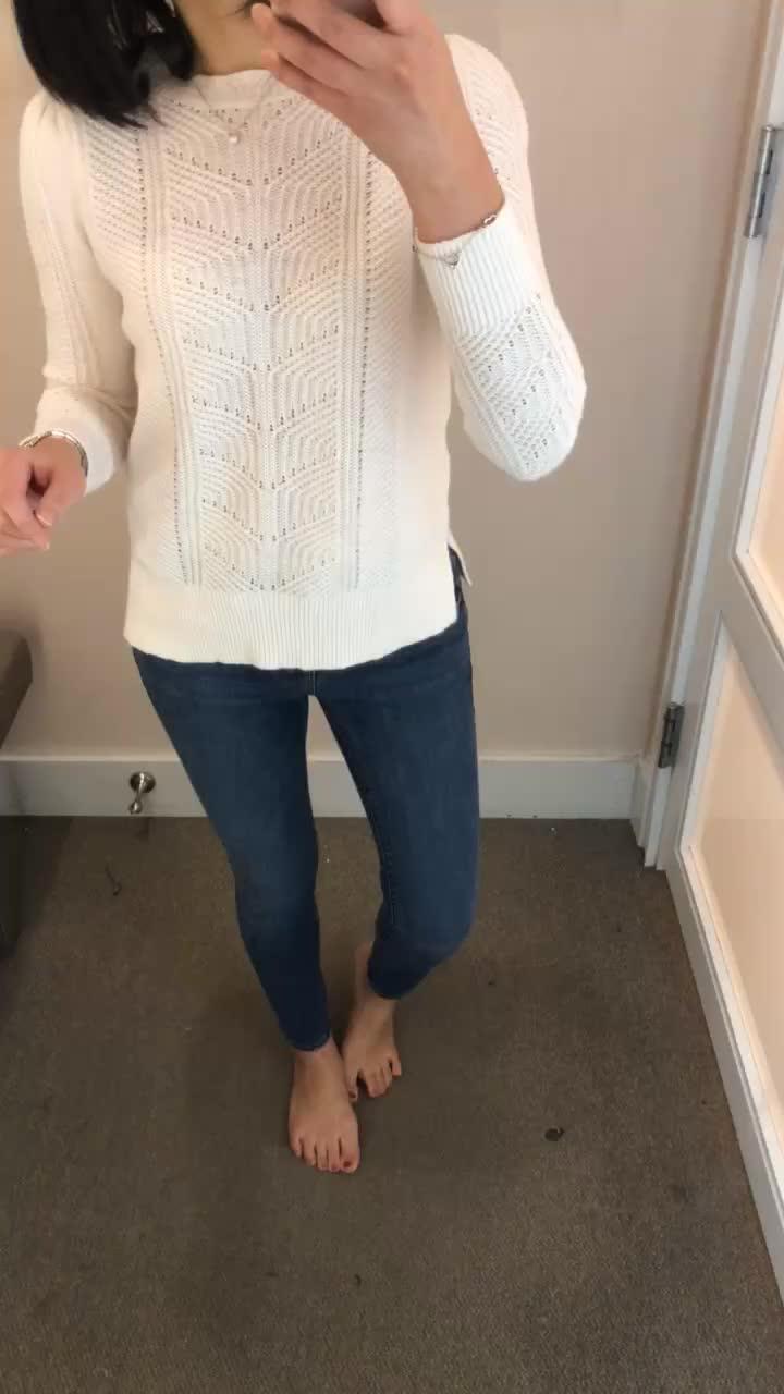 LOFT Mixed Chevron Sweater, size XSP