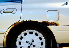 Rusty Honda with Taped Gas Cap Door