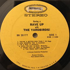 THE YARDBIRDS:HAVING A RAVE UP WITH THE YARDBIRDS(LABEL SIDE-A)