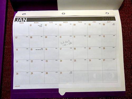 January 2018 Diary