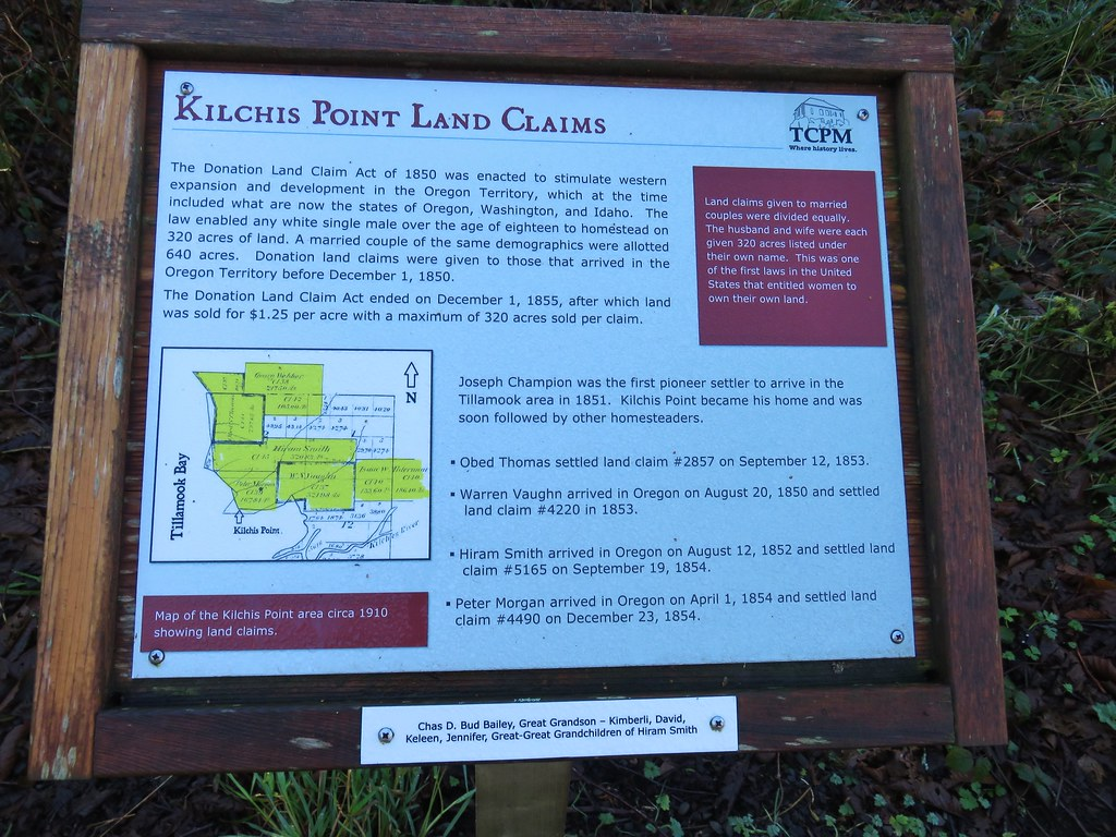 Interpretive sign at Kilchis Point Reserve