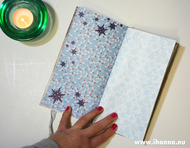 Spread in Christmas Junk Journal no 1 hand made by iHanna and now sold #christmasjournal