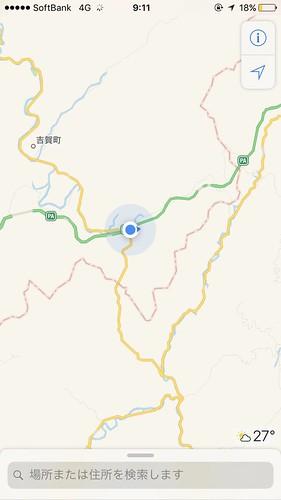 中国山地に突入。国道分岐を間違え意図せず島根に