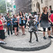 Fearless Girl Faces Her Fans