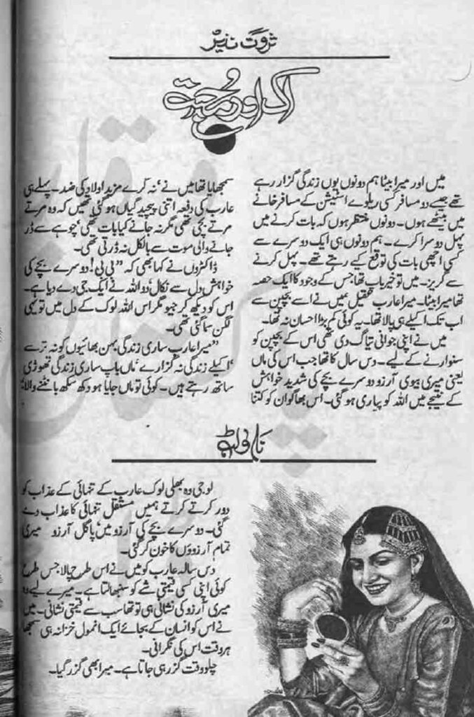 Aik Aur Mohabbat is a very well written complex script novel by Sarwat Nazeer which depicts normal emotions and behaviour of human like love hate greed power and fear , Sarwat Nazeer is a very famous and popular specialy among female readers