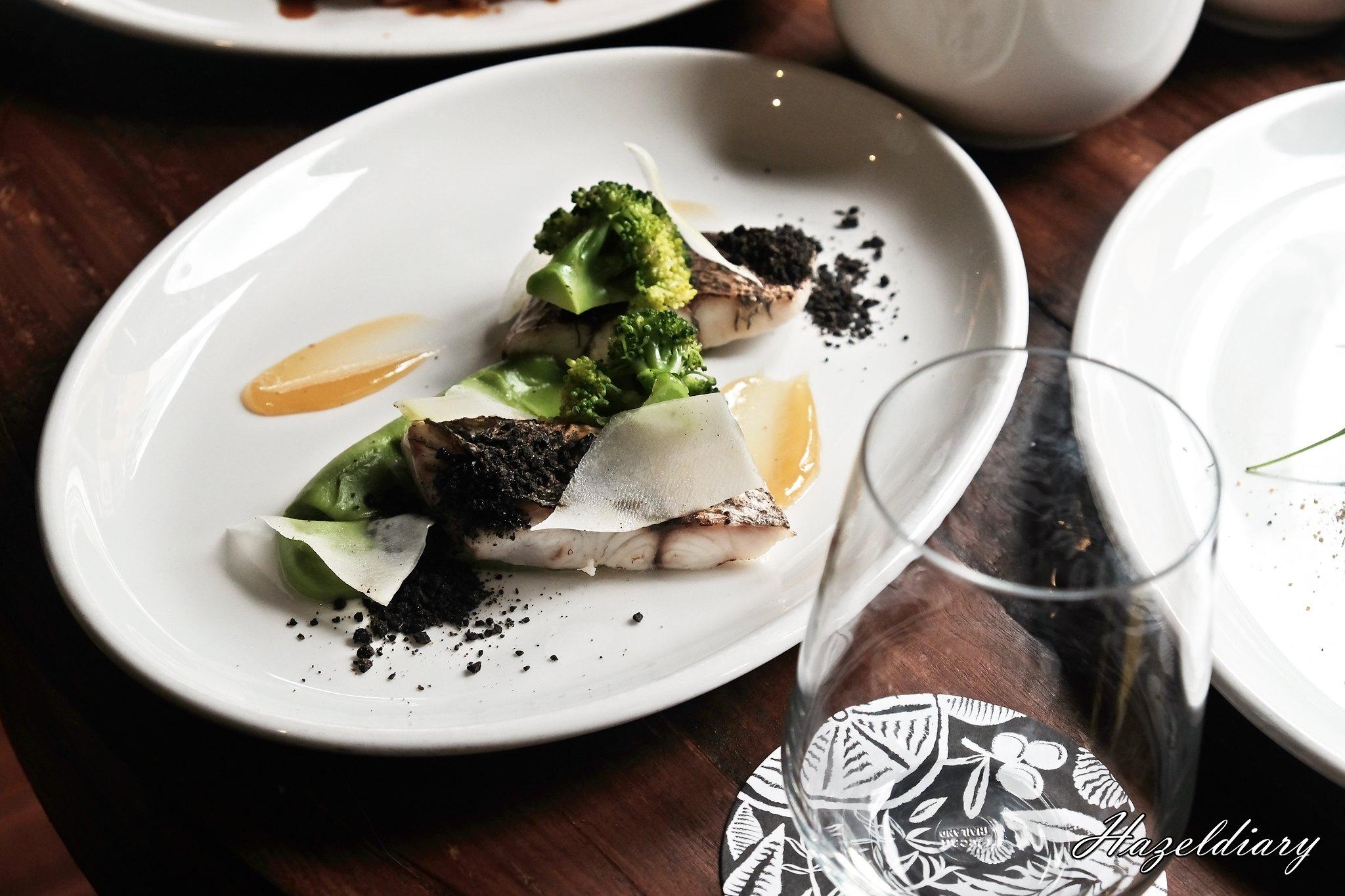 Audace-Sea Bass, Lemon Paste, Black Olives