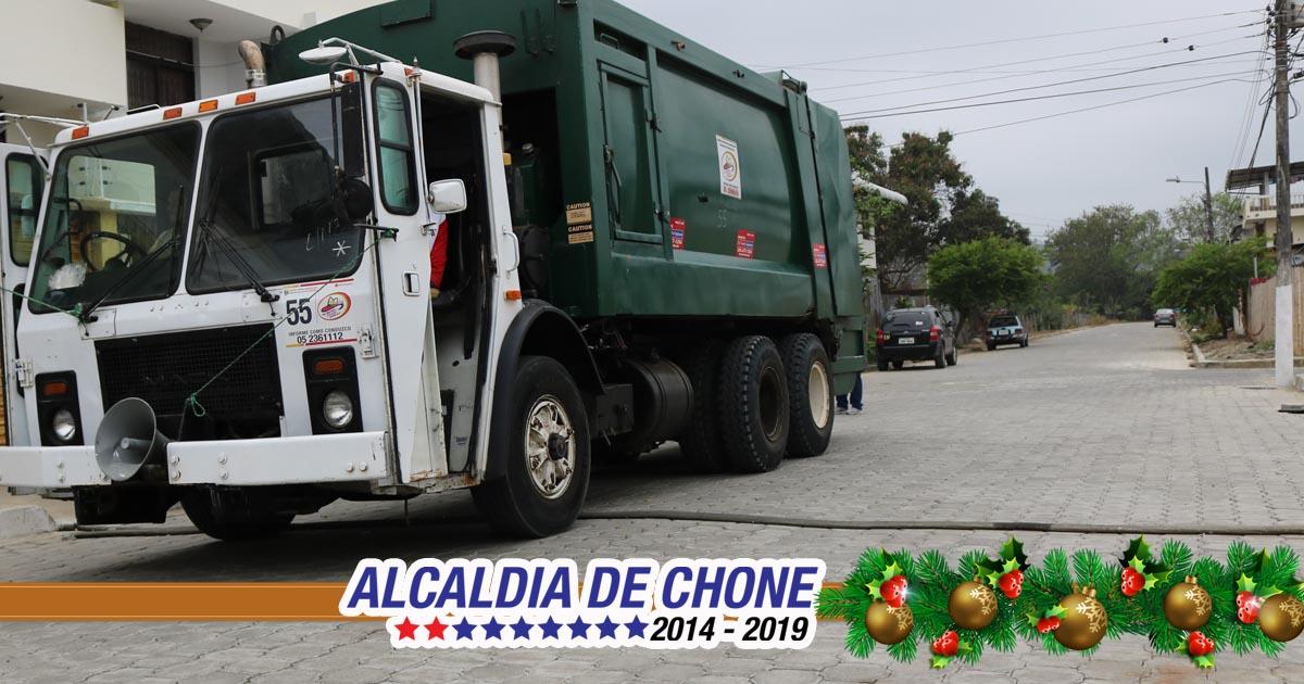 En feriado de Navidad se laborará en la recolección de los desechos