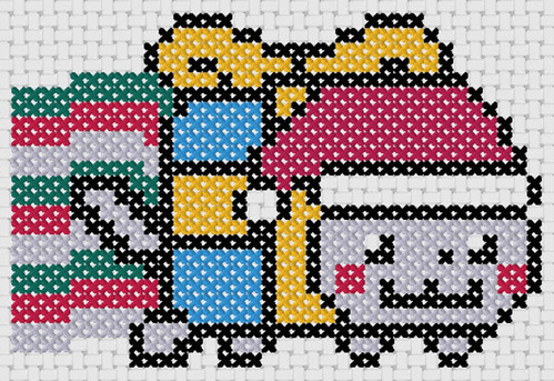 Preview of Cross stitch handmade memories: Christmas Nyan Cat