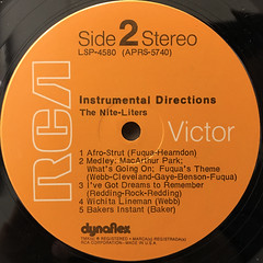 THE NITE-LITERS:INSTRUMENTAL DIRECTIONS(LABEL SIDE-B)
