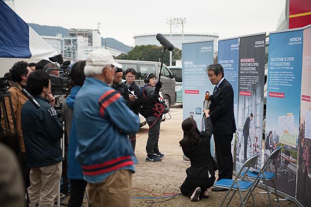 山口県下松市 道路を走る高速鉄道車両見学プロジェクト