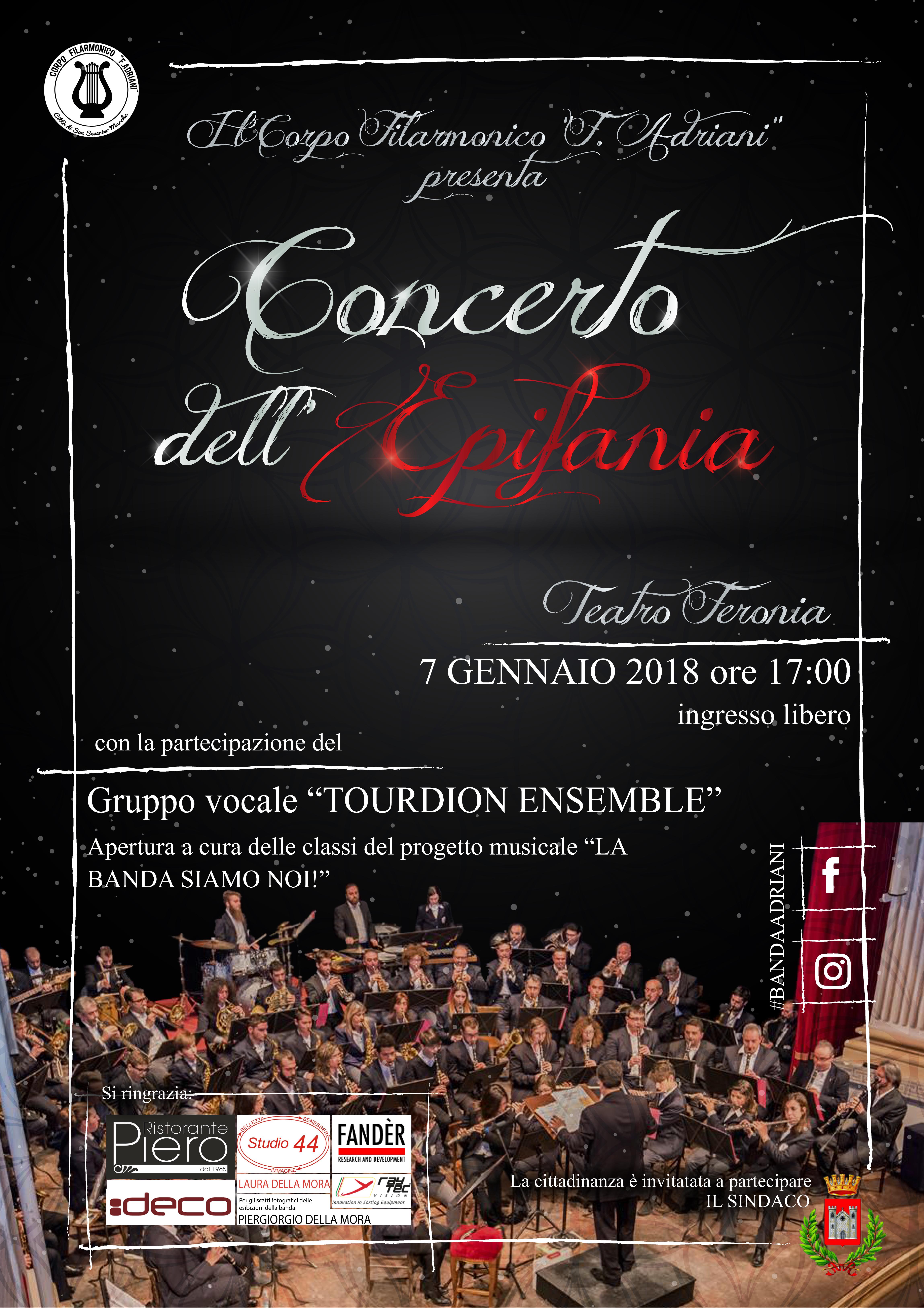 Locandina Concerto dell'Epifania 2018