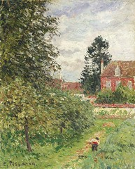 La Maison de l'Anglais, Eragny (C Pissarro - PDRS 1465)