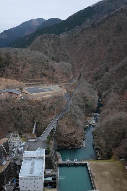 Lake Okutama Ogouchi dam reservoir 04