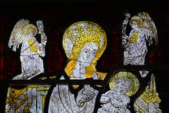 Détail d'un vitrail de l'église Saint-Corneille, Nicorps, Manche - Photo of Guéhébert