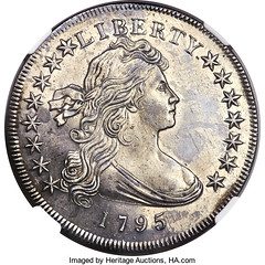 1795 Draped Bust Dollar obverse