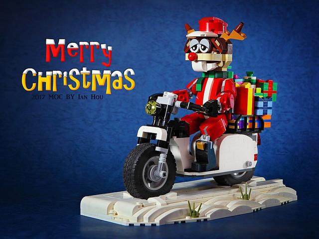 難道這就是聖誕節的可怕內幕?!DOGOD 狗神磚創 MOC 作品【腹黑的聖誕老人&疲倦的聖誕馴鹿】Scheming Santa Claus & Tired Christmas Reindeer