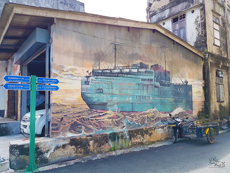 songkhla old town street art ship