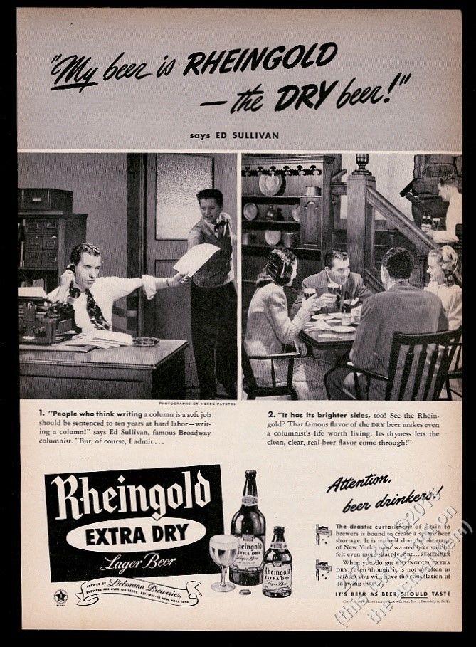 1946-Rheingold-Beer-Ed-Sullivan