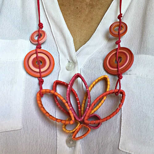Quilled Paper Necklace - Petal Power by Licia Politis
