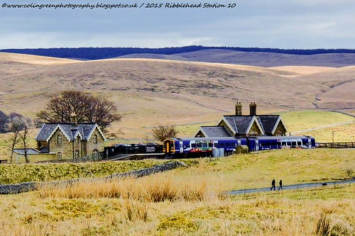 Train at Ribblehead Station.
