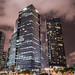 Singapur financial district by night