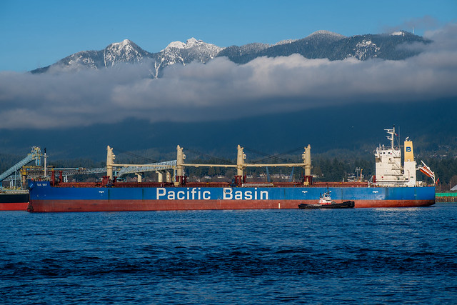 Bulk Container with Vancouver's Harbour