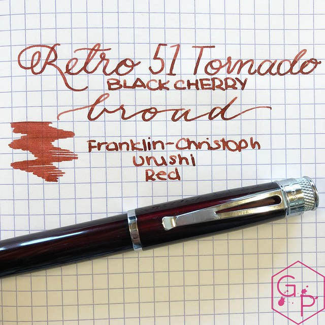 Review @Retro1951 Tornado Black Cherry Fountain Pen 22_RWM