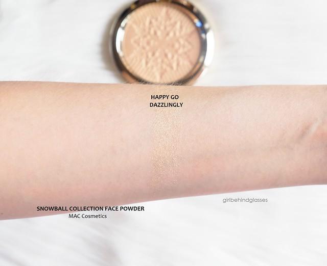 MAC Face Powder Happy Go Dazzlingly swatch