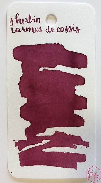 Ink Shot Review J. Herbin Larmes de Cassis @KnightsWritingC 1