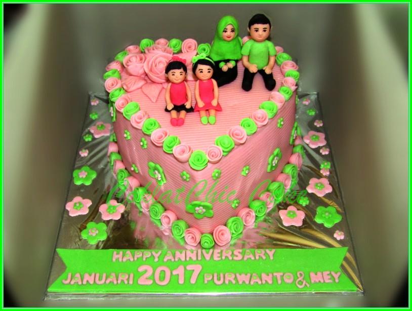 Cake bentuk Heart Anniversary Purwanto&Mey 15cm