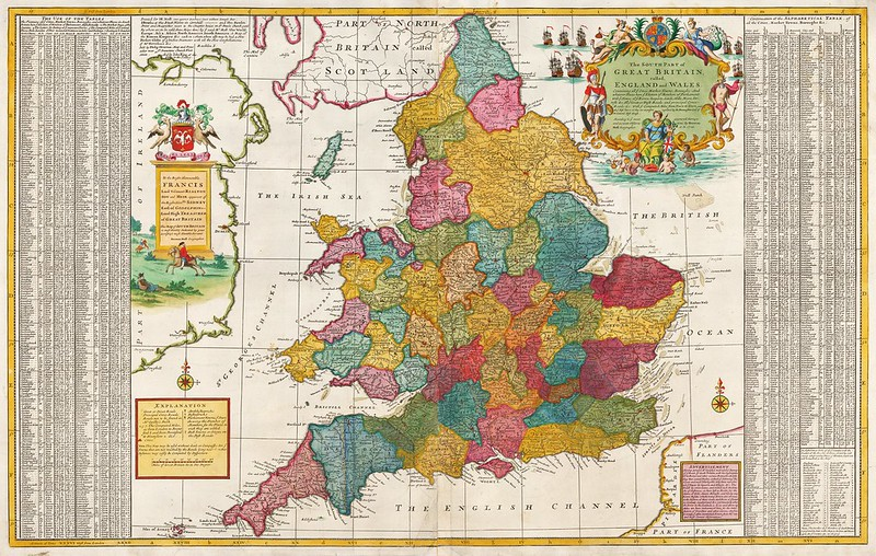Herman Moll - The South Part of Great Britain, called England and Wales (c.1740)