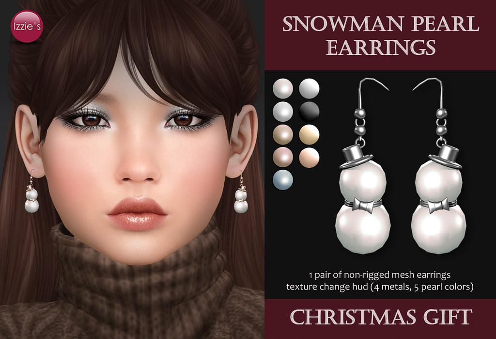 Snowman Pearl Earrings (Christmas Gift) - TeleportHub.com Live!