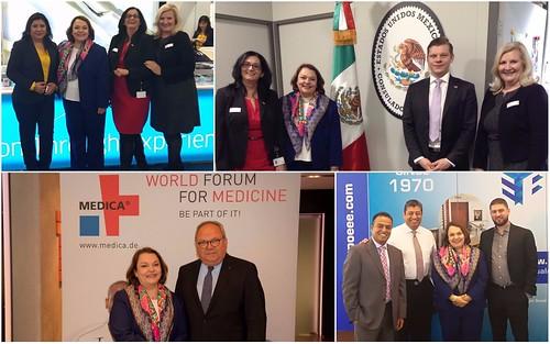 Presencia de México en la feria MEDICA y reunión con Cónsul Honorario en Düsseldorf