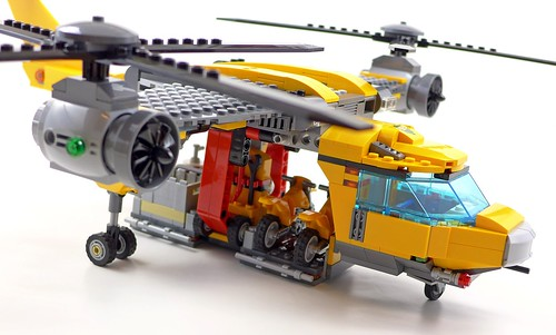 LEGO City Jungle 60162 Jungle Air Drop Helicopter 123