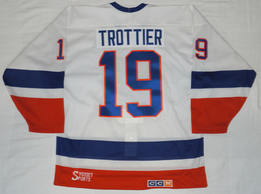 1987-88 Bryan Trottier New York Islanders Home Jersey Back