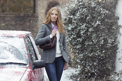 Snowy Tweed Blazer & Bag